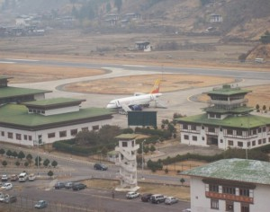 distant view of paro airport